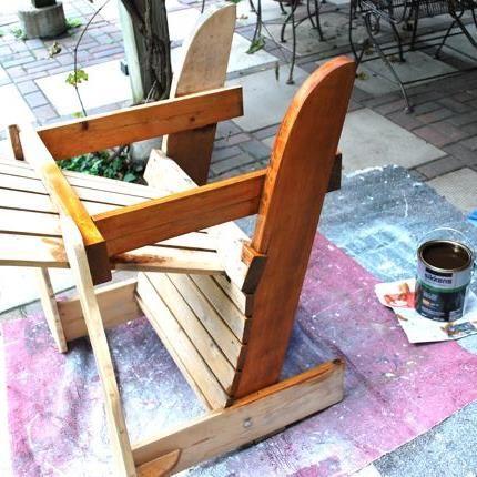 Refinishing Process for Adirondack Chairs