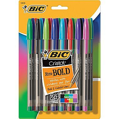 BIC 4 Colour Pen Multi Coloured Retractable Ballpoint Biro Classic  Stationery Mini Pocket Size