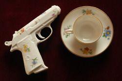 Porcelain Pistols by Yvonne Lee Schultz