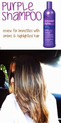 Purple Shampoo For Ombre Hair Purple Shampoo Clairol Shimmer Lights Ombre Hair