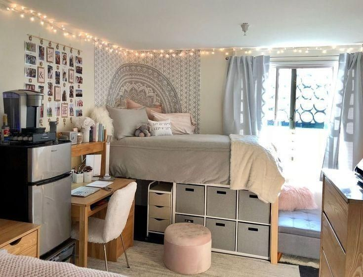 Clever creative college dorm room organization and bedroom decorating ideas 13