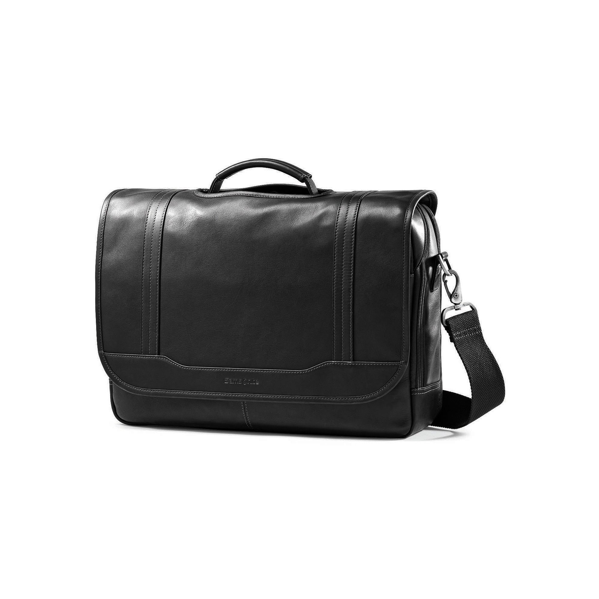 Samsonite Colombian Leather Flapover Laptop Briefcase  ea0824995068a