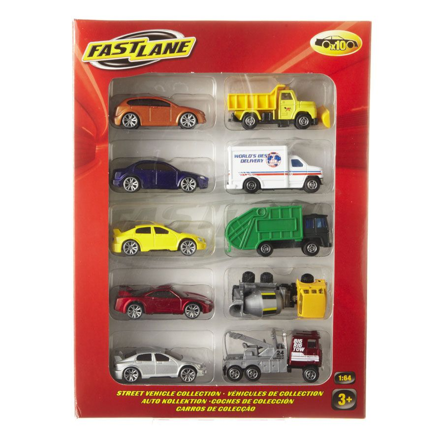Fastlane 10 Pack Die Cast Vehicles Toysrus Australia Official Site Toys Games Outdoor Fun Baby Products More Diecast Cars Toy Store Diecast