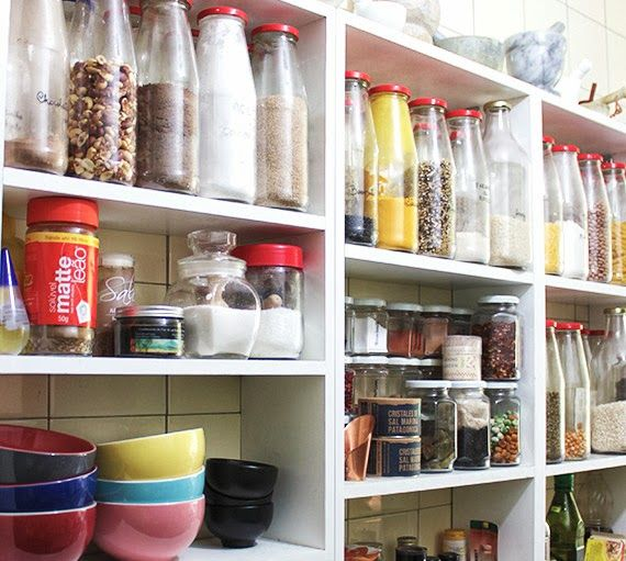 como organizar a cozinha - minha cozinha - prateleira de cozinha ...