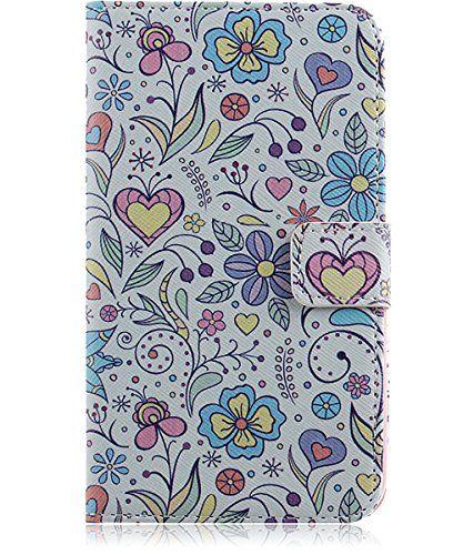 3f83493b0b ISAKEN Samsung Galaxy S5 Case,Samsung Galaxy S5 Cover,Leather Wallet Case  for Samsung
