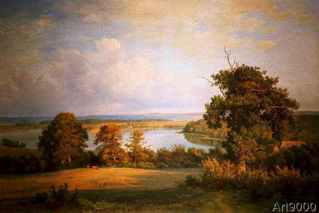 Louis Gurlitt - View of Stoefs over the Binnensee on the Hohwachter Bay