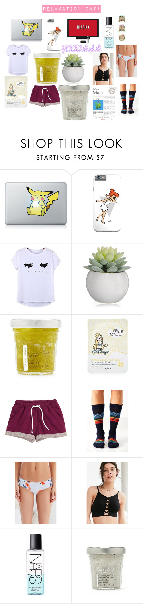 """""""RELAX"""" by ayeitssarah on Polyvore featuring beauty, Chicnova Fashion, Forever 21, H&M, Out From Under and NARS Cosmetics"""