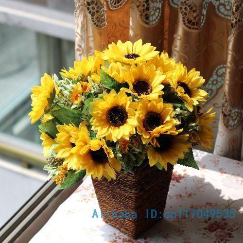 Bouquet Artificial Sunflower Silk Flower Home Party Decoration F155, $3.46 | DHgate.com