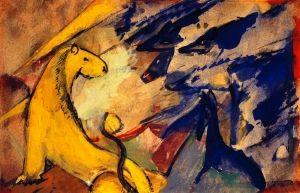 Yellow Lion, Blue Foxes, Blue Horse, 1914 - Franz Marc - The Athenaeum