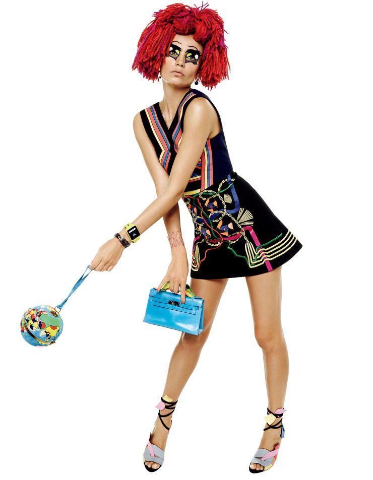 Publication: Vogue Japan March 2015 Model: Natasha Poly Photographer: Giampaolo Sgura Fashion Editor: Anna Dello Russo
