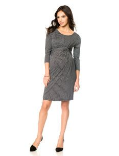 84a6633d777d8 Seraphine 3/4 Sleeve Knot Front Maternity Dress | Maternity Wear ...