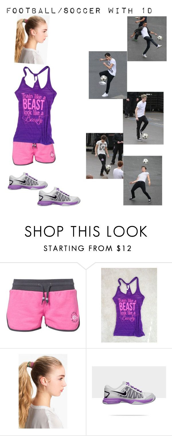 """Football/Soccer with 1D"" by funky-monkey-32 ❤ liked on Polyvore featuring Rip Curl, Cara, Payne, NIKE, soccer and one direction"