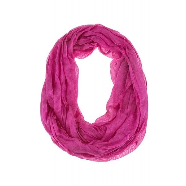 Solid Color Squiggle Infinity Scarf (1,345 INR) ❤ liked on Polyvore featuring accessories, scarves, pink, pink infinity scarf, tube scarves, infinity scarves, circle scarf and pink scarves