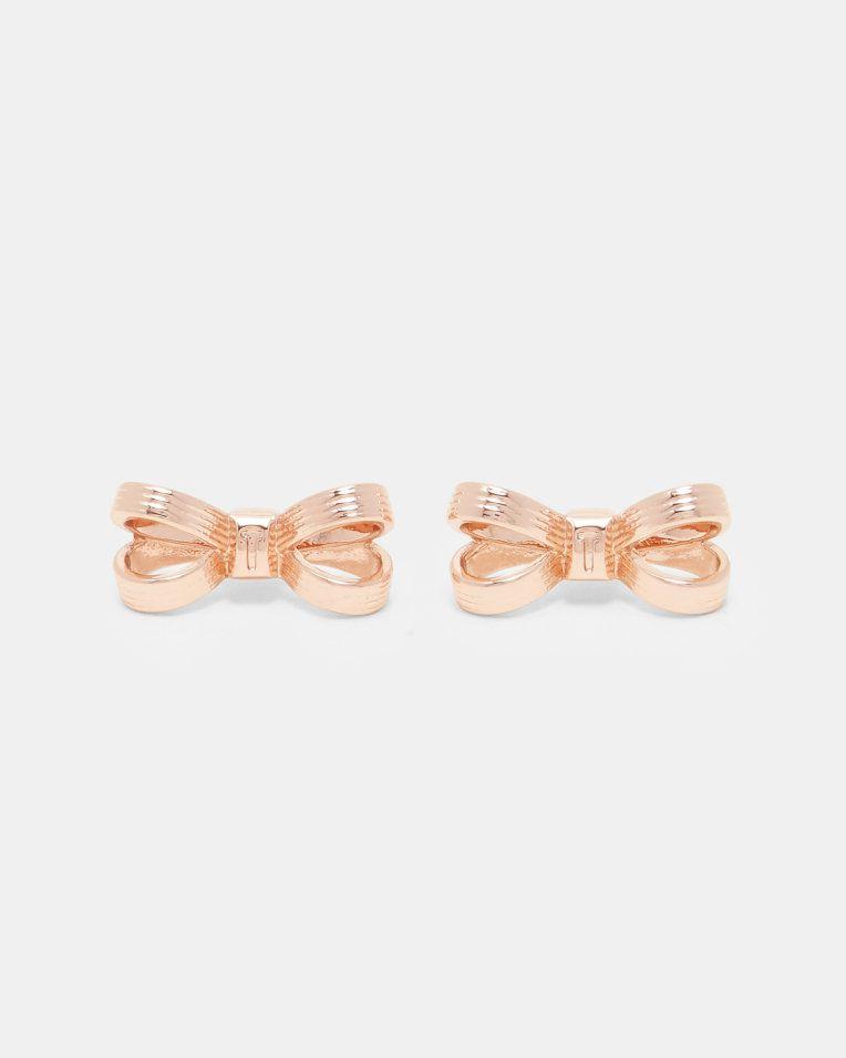 rose gouden oorknopjes