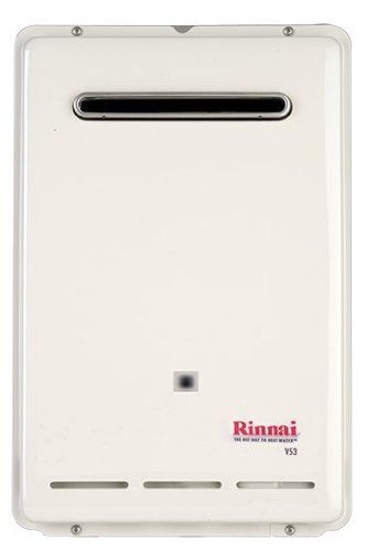 rinnai rv53en natural gas tankless water heater, 5.3 gallons per