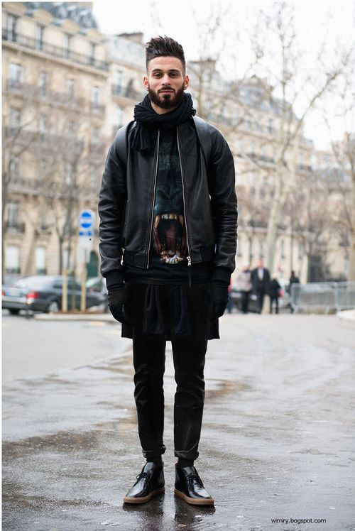 Alexander McQueen Sweater, Black Leather Bomber Style Jacket, Rick ...