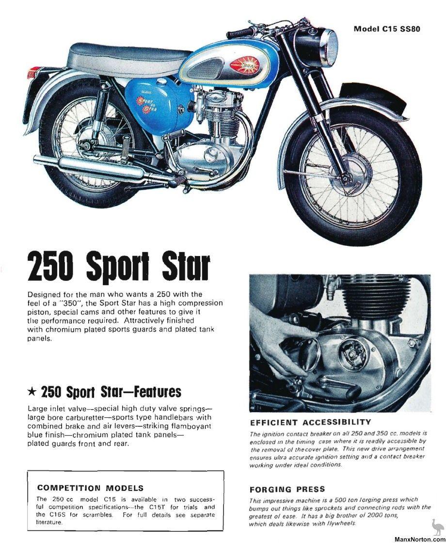 BSA 1965 C15 SS80 Sport Star 920x