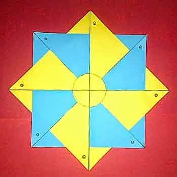 tutorial origami kincir angin