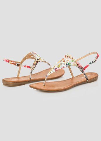 b5d47a41b10 Ashley Stewart · Thongs · Stone Floral Thong Sandal Floral Print Shoes