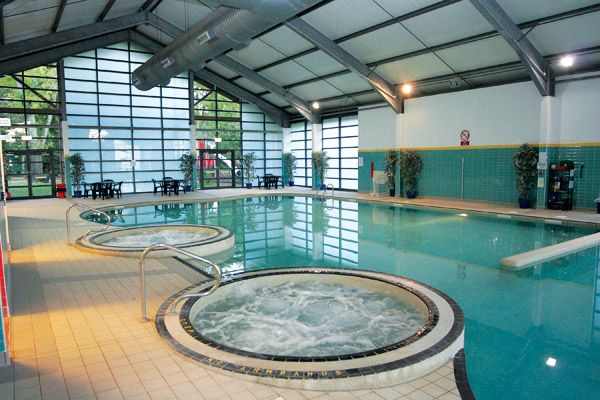 Indoor at swimming pool at whitemead forest park - Deans community high school swimming pool ...