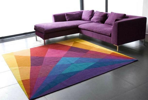 Purple Sofa Funky Home Decor Colors House Colorful Rugs