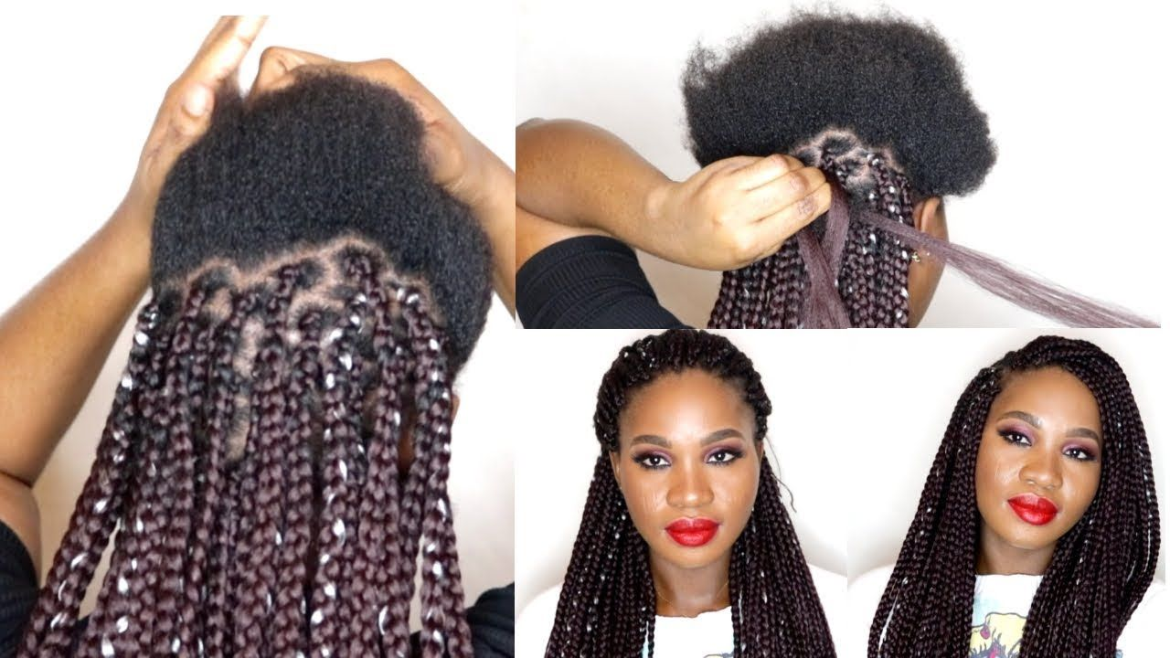How To Do Box Braids On Short Natural Hair Protective Style On