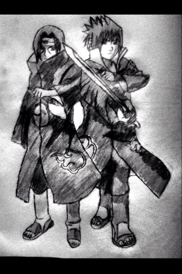 Speed Drawing Uchiha Itachi And Uchiha Sasuke Naruto Shippuden