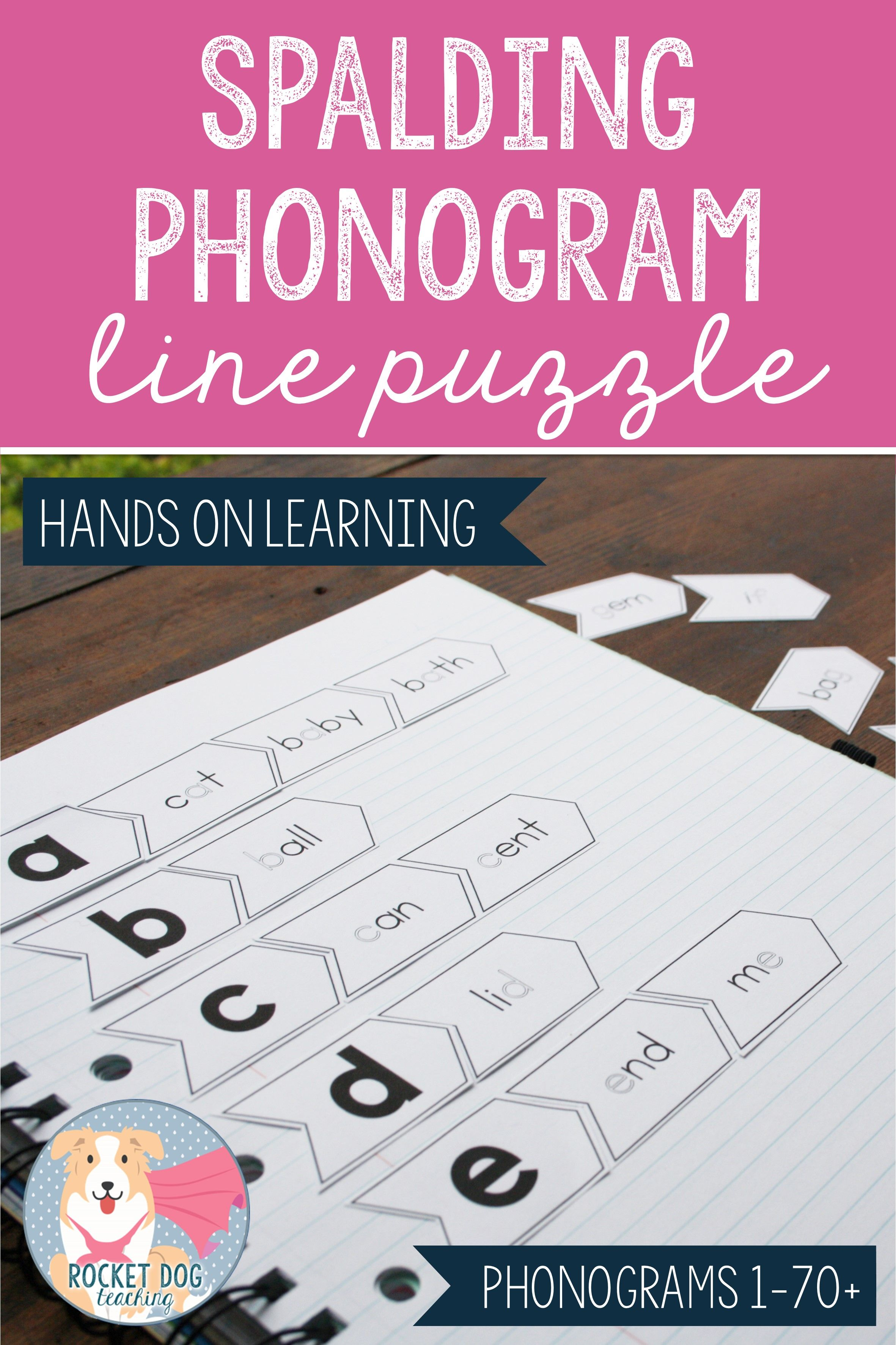 This Spalding Phonogram Line Puzzle Can Be Used In A Range Of Ways Print It Full Size To Create A Puz Spelling Activities Literacy Center Activity Phonograms [ 3543 x 2362 Pixel ]