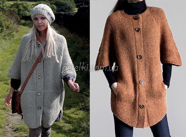 Вязаные пальто своими руками с описанием