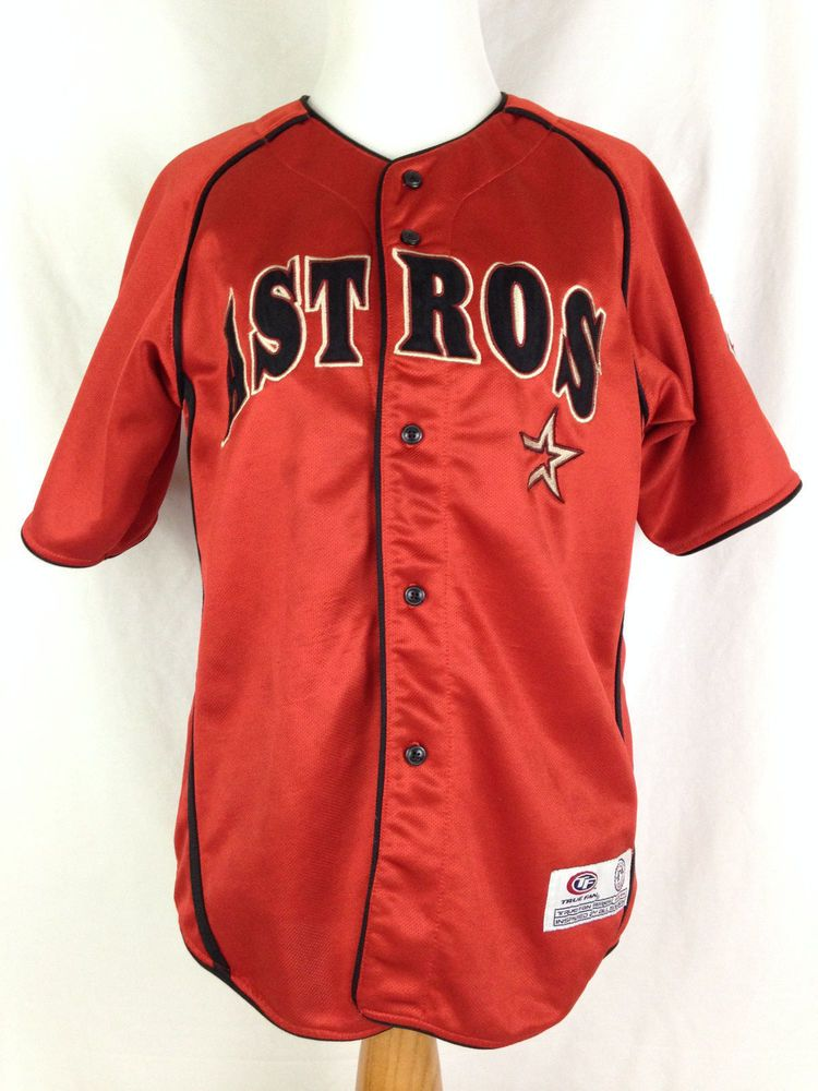free shipping 5b4c1 4240c Details about MLB Houston Astros Roger Clemens Majestic Sewn ...