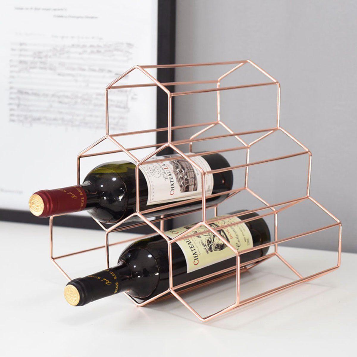 Amazon Com Buruis 7 Bottles Metal Wine Rack Countertop Free
