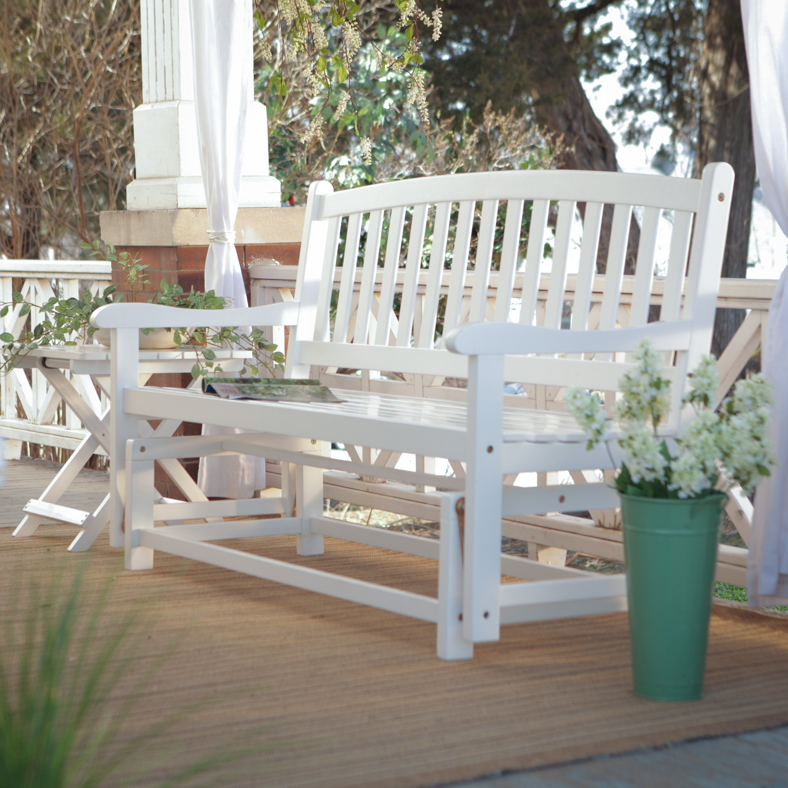 patio inspirations wood of stunning size deck full porch covers bench chair swing outdoor stunningg glider shop image replacement