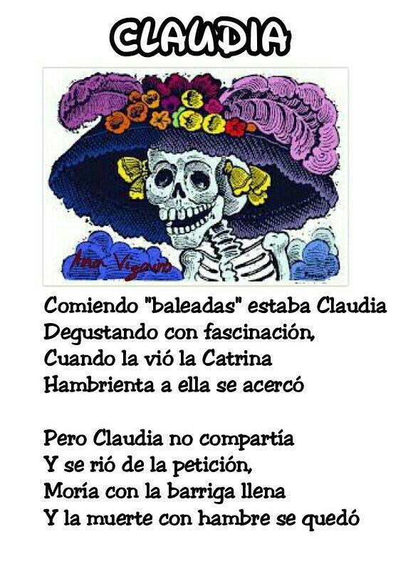 Claudia Calaveritas Literarias 2016 Calaveras Literarias