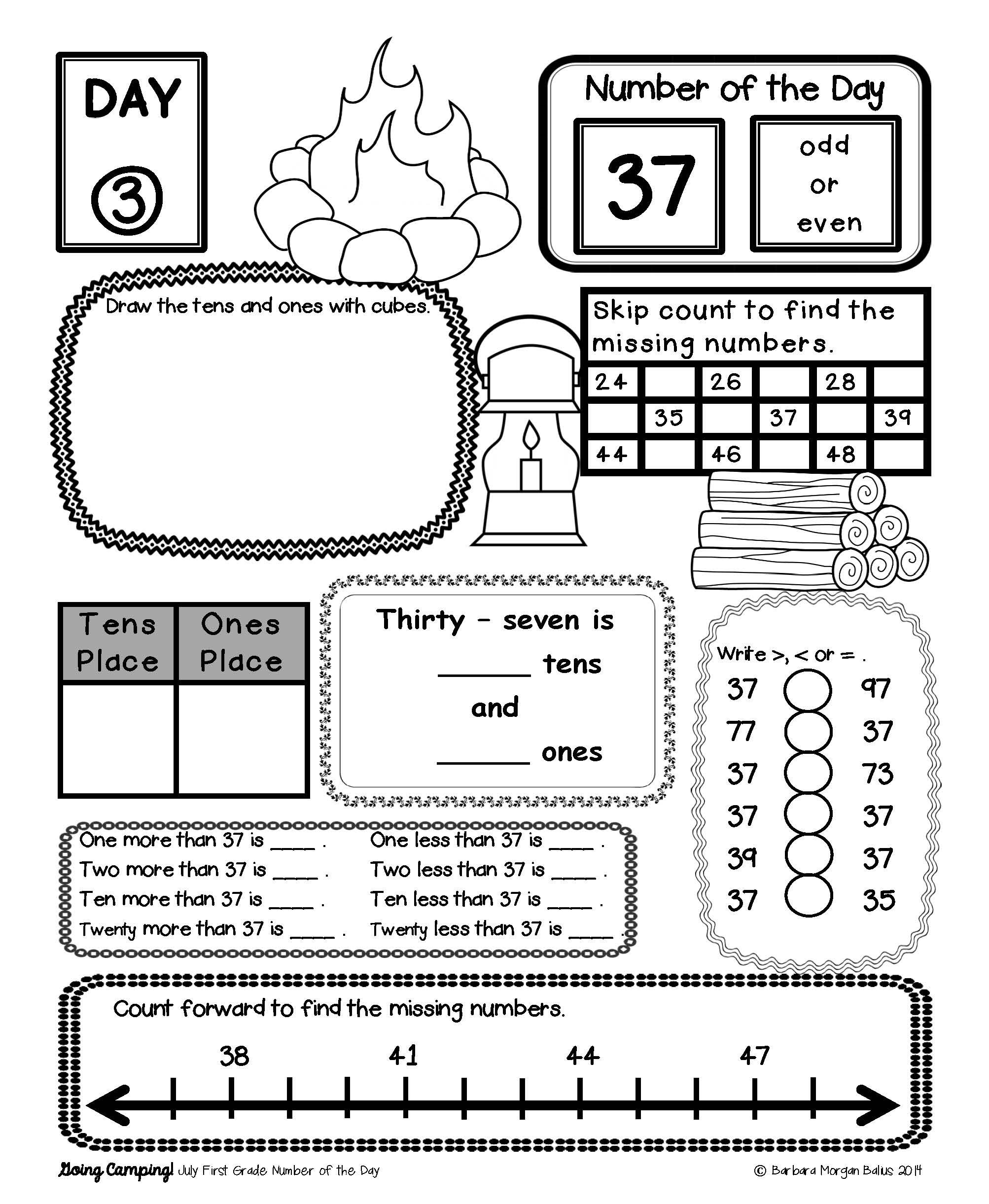 Place Value Morning Work Number Sense Math First Grade