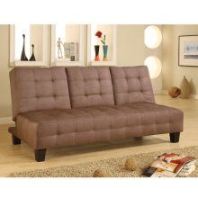 Coaster 300154 Armless Convertible Sofa Bed W Drop Down Console