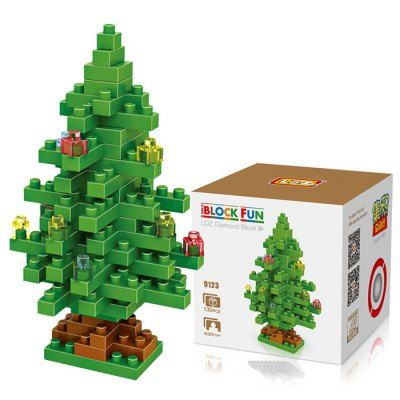 LOZ 130Pcs M - 9123 Christmas Tree Building Block Educational Toy for Brain Thinking-2.86 and Free Shipping| GearBest.com