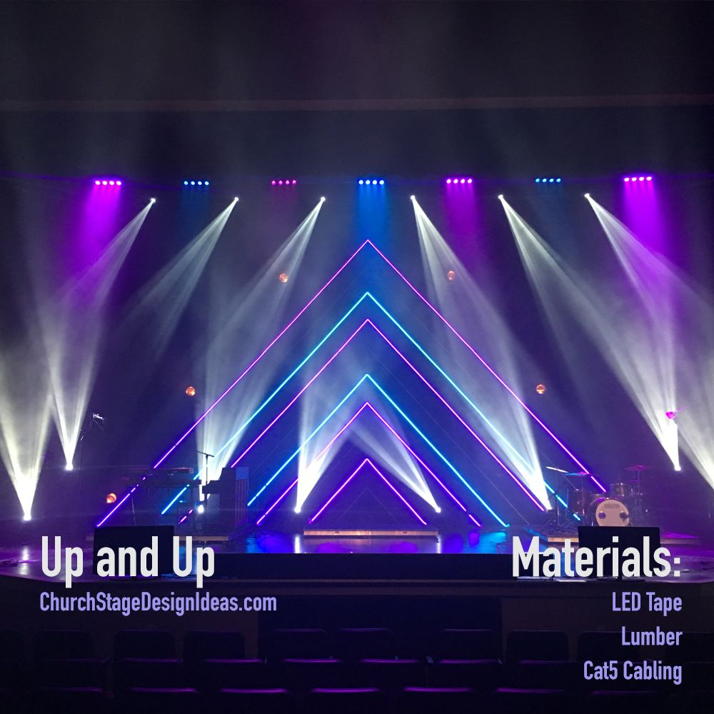 Up and Up | 舞台场景 | Pinterest | Stage design, Stage and Churches