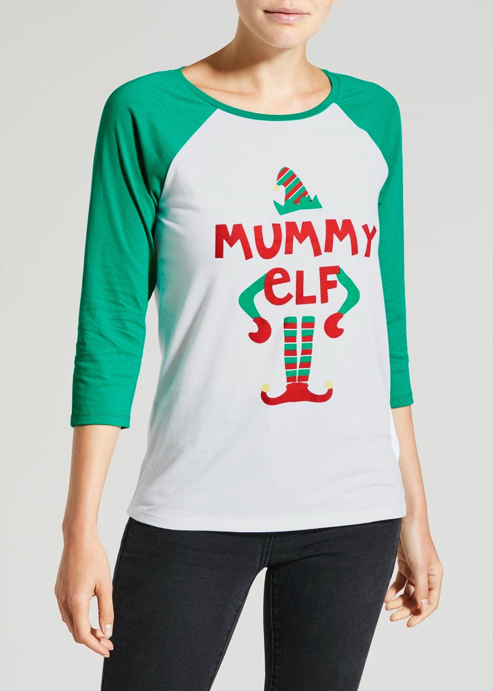 59ce46c897c5 Mummy Elf Christmas T-Shirt | what to wear? | Christmas elf, Shirts ...