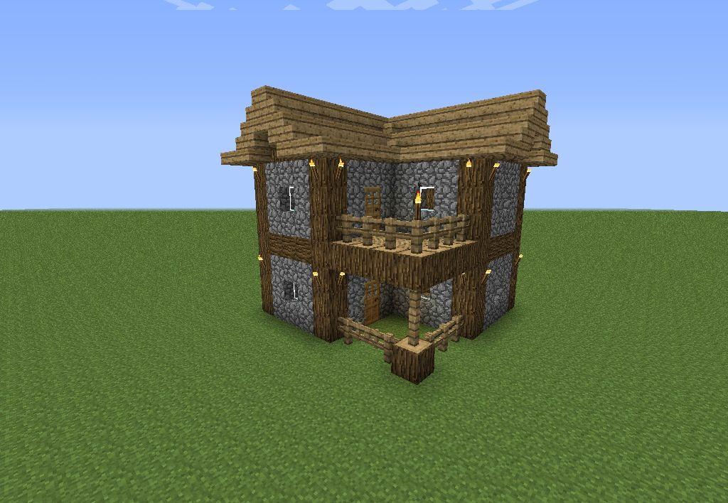 an easy to make minecraft house. | wyatt's board | minecraft houses