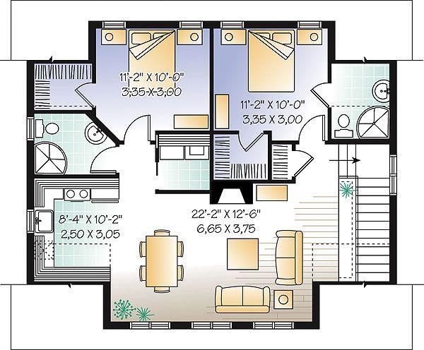 Image result for 2 bedroom apartment over garage plans | Garage ...