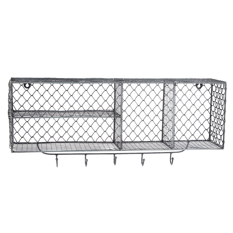 Pewter Tone Wire Storage Mounted Shelf Tk Maxx