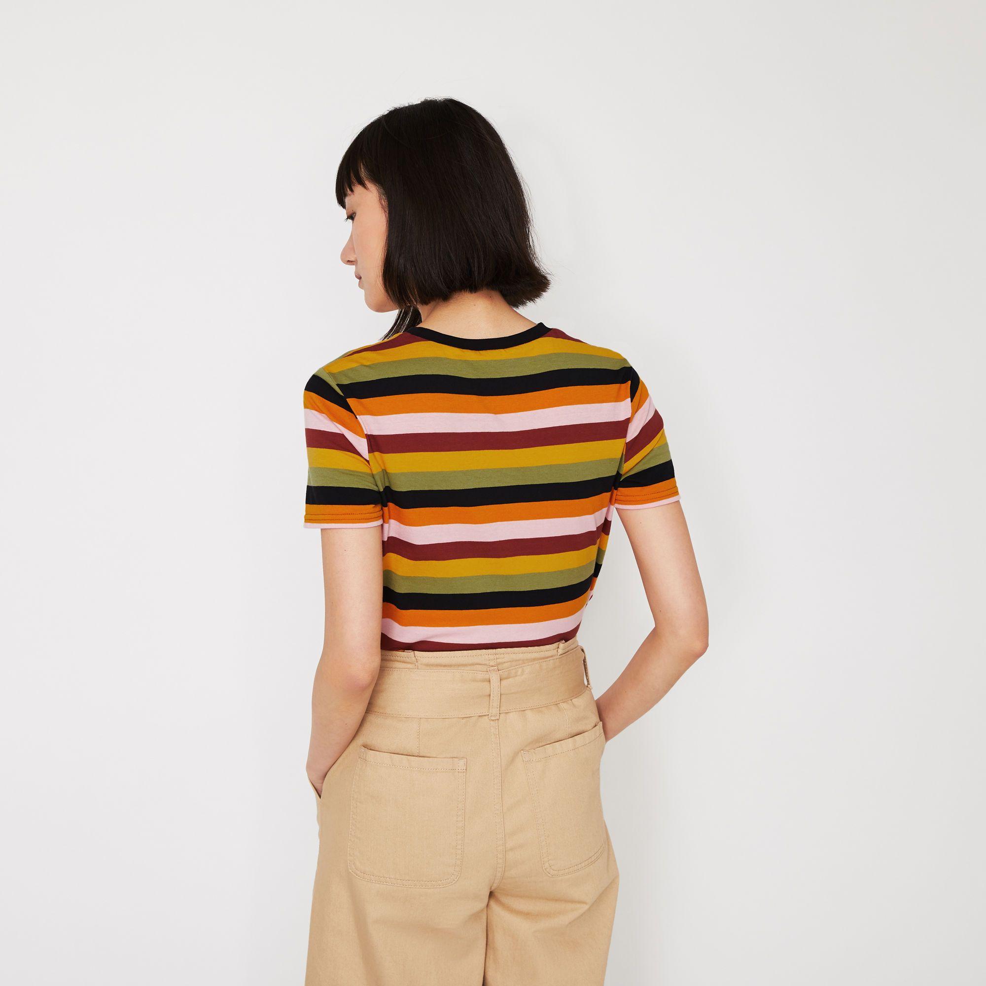 027272c135 Multi stripe t-shirt en 2019