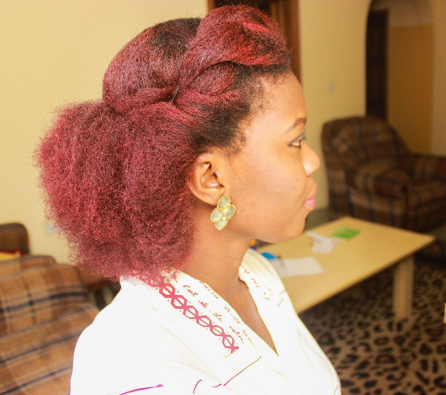 Image result for big chop red hair