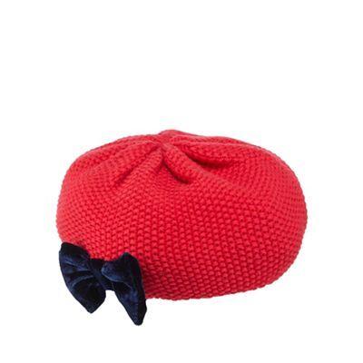 512d3c5b6 J by Jasper Conran Babies red bow detail knitted beret | Debenhams ...
