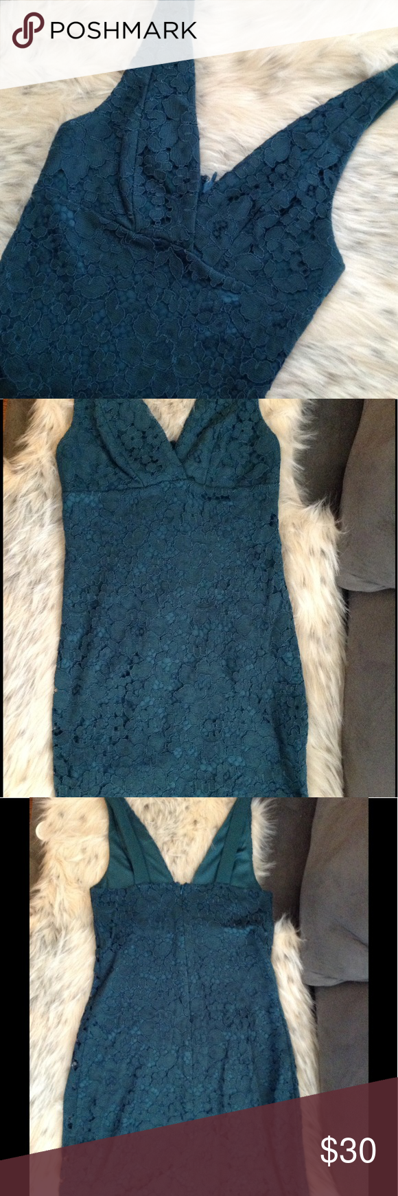 Green dress with lace overlay  Lace TopShop Dress  Emerald green dresses Topshop dresses and Lace