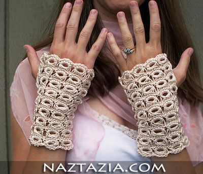 Crochet broomstick lace fingerless gloves - Naztazia | Crochet Stuff ...
