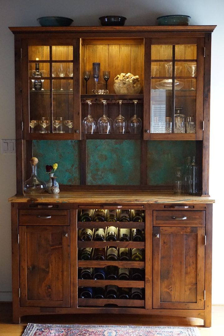 Incroyable Reclaimed Wine Hutch More