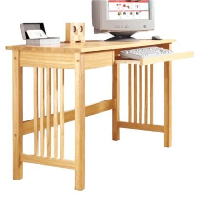 Classic Mission Style Meets The Electronic Age In This Computer Desk Sides Have The Traditional