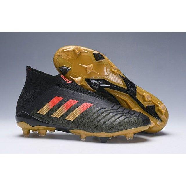 Best Kids Adidas Predator 18+ Paul Pogba FG Soccer Cleats - Black Gold  3dfc4c257040a