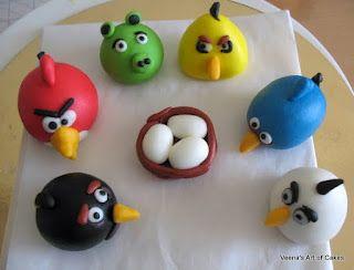 Veena Art Of Cake Fondant Recipe : Veena s Art of Cakes: Gumpaste Angry Birds Tutorial . ALSO ...